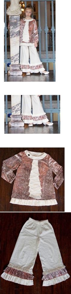Outfits and Sets 156801: A.Bird Designer Boutique Size 5 Linen And Crushed Velvet Girls Outfit, Nwt, $173 -> BUY IT NOW ONLY: $103.55 on eBay!