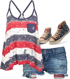 """USA"" by haleymarie1210 on Polyvore"