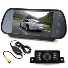 """7"""" TFT LCD Wide Screen Car Rear View Reverse Monitor  Transmitter   7 LED Camera"""
