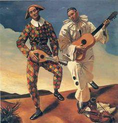André Derain, Harlequin and Pierrot, c. 1924; Musée de l'Orangerie