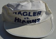 VINTAGE ORIGINAL 1985 MARVIN HAGLER vs TOMMY HEARNS PAINTER'S CAP-SIZE LG