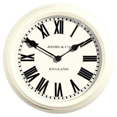 Jones Savoy Metal Linen White Wall Clock - Clocks - Home accessories - Home & garden - Sainsbury's