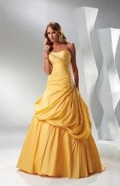 Cinderella Sleeveless A-line Floor Length Sequined Ruched Evening Dress-0