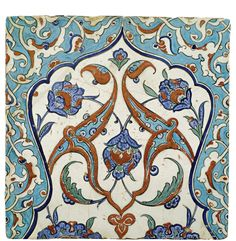 AN IZNIK POLYCHROME TILE, TURKEY, CIRCA 1580