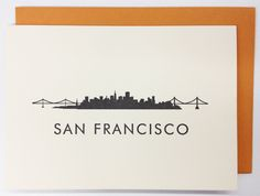 The Shop by The Bold Italic - SAN FRANCISCO SKYLINE - NOTECARDS
