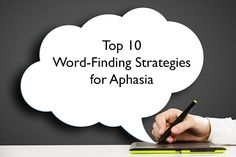 How To: Word-Finding Strategies for Aphasia  Download this list of the Top 10 strategies and apps you can use to practice them. #speechtherapy #stroke #aphasia