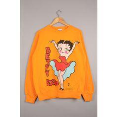 freeze sweatshirt, betty boop sweatshirt, fleischer studios,vintage... ($40) ❤ liked on Polyvore featuring tops, hoodies, sweatshirts, crew neck sweatshirts, crew top, vintage crew neck sweatshirts, vintage comic book and crew-neck sweatshirts