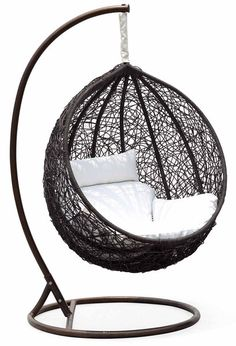 Ceri Synethic Wicker Outdoor Swing Chair – Model - CW003BK – Chans ...