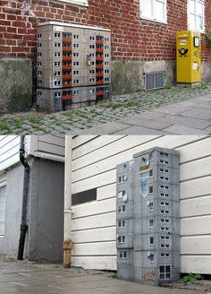 EVOL transforms Lackluster urban spaces with mini conrete block towers