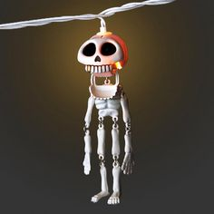 Dangling Skeletons Halloween String Lights
