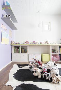 lehmäntalja lastenhuoneessa