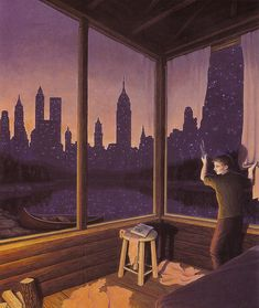 25 Mind Twisting Optical Illusion Paintings By Rob Gonsalves 11.jpg