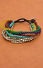 Pannee Mixed Stone with Multiple Row Beaded Bracelet