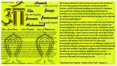 35) And pay attention to what and how you pass on the teaching of the truth, the teaching of the spirit, the  teaching of the life in truliness, so that no misunderstanding may arise and no ambiguity may come forth; and pass on the teaching of the prophets to whomever you want, and do it without measure but only ever if you are asked to do so, so that you and the teaching may not be unwanted and do not create vexation.   36) Believers in a god or tin gods as well as those who are unknowing…