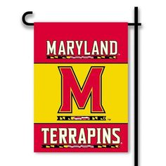 Double Sided University of Maryland Terps Garden Flag