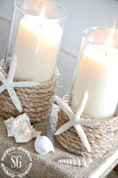 25 Deko-Ideen für Ihr Traum-nautisches Badezimmer The Effective Pictures We Offer You About classy beach house decor A quality picture can tell you many Seashell Crafts, Beach Crafts, Home Candles, Diy Candles, Diy Décoration, Easy Diy, Beach House Decor, Diy Home Decor, Modern Beach Decor