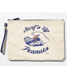 SURF'S UP PEANUTS(サーフズアップ ピーナッツ)の【SURF'S UP PEANUTS】CLUTCH BAG (L)(クラッチバッグ)|ネイビー