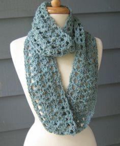 infinity scarf crochet pattern | Shelley Infinity Scarf.. Crochet PATTERN by PurpleStardust on Etsy. $4 ...