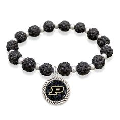 Purdue Boilermakers sparkle stretch bracelet //$9.98