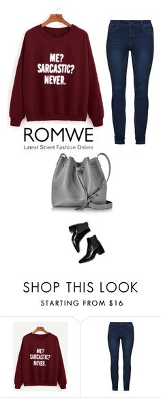"""""""Romwe time"""" by milenakostic ❤ liked on Polyvore featuring Lancaster"""