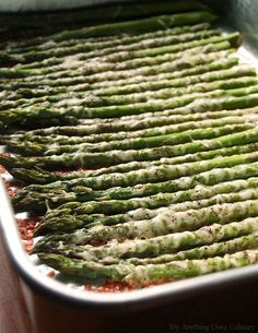 Oven Roasted Parmesan Asparagus http://www.tryanythingonceculinary.com/easy-oven-roasted-parmesan-asparagus/