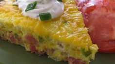 This baked Denver omelet is really a frittata with ham, bell pepper, onion, and Cheddar cheese -- all the classic ingredients of the original.