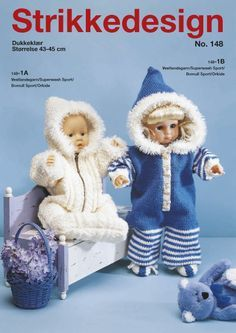 Album Archive - Gjerstal no 148 Knitting Dolls Clothes, Crochet Doll Clothes, Sewing Dolls, Ag Dolls, Doll Clothes Patterns, Reborn Dolls, Doll Patterns, Girl Dolls, Knitting Books