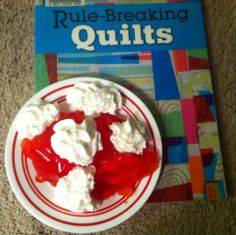Dessert and a great quilting book, blissful