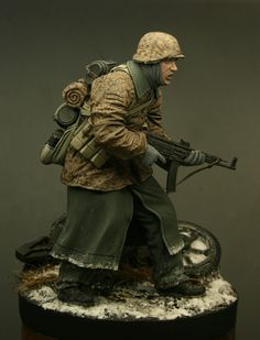WWII Waffen SS Soldier -Ardennes 1944. German army toy solider.