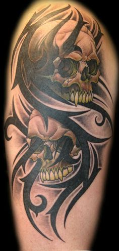 Not sure about the skulls but the concept with the tribal is pretty sweet.