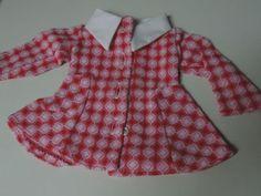 Puppenkleidung-fuer-Kaethe-Kruse-35-cm-Kleid-Mantelkleid-70er-Jahre