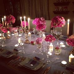 Beautiful dinner party idea!