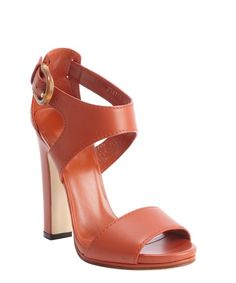 b602a446c095 Gucci burnt orange leather bamboo buckle heel sandals Mens Shoes Sale