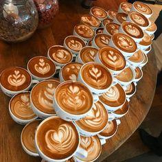 Latte Art by Dritan Alsela Coffee Lab, Need Coffee, Coffee Time, Coffee Shop, Coffee Cups, Coffee Barista, Chefs, Latte Art, Coffee Quotes