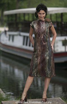 """Купить авторское платье""""охота на гусей"""" - валяное платье, авторское платье, эксклюзив, Ирина Левкович"""