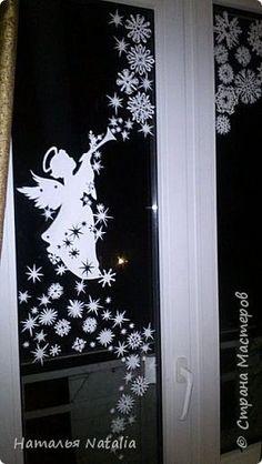 Интерьер Новый год Рождество Вырезание Снежный ангел и др Бумага фото 2