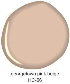 #BenjaminMoore Georgetown Pink Beige HC-56
