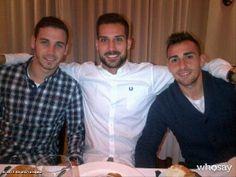 Álvaro Vázquez comparte en Twitter esta imagen de una cena de equipo de los jugadores del Getafe