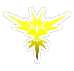 Sticker for Sale: Pokemon Go Team Instinct by Kaiserin