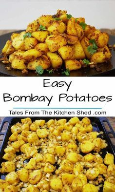 Easy Bombay Potatoes - the best ever Indian Spiced Roasties. The perfect partner. Easy Bombay Potatoes - the best ever Indian Spiced Roasties. The perfect partner for any curry recipe or to spice up your Sunday Roast ! Veg Recipes, Curry Recipes, Side Dish Recipes, Asian Recipes, Cooking Recipes, Healthy Recipes, Recipies, Indian Food Recipes Easy, Indian Potato Recipes