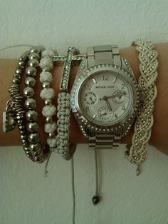 Michael Kors silver watch - this is how I wear mine <3