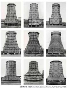 Bernd & Hilla Becher. Cooling Towers, Ruhr District, 1983