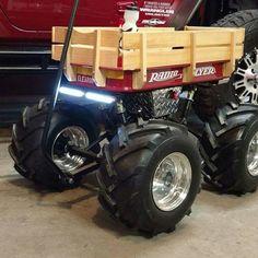 Baja Wagon Custom Radio Flyer Wagon, Radio Flyer Wagons, Kids Wagon, John Deere Lawn Mower, Karts, Little Red Wagon, Toyota Trucks, Kids Ride On, Vintage Trucks