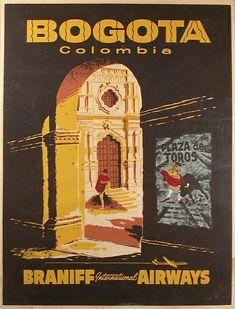 Poster publicitario de Colombia. #SouthAmericaTravelPoster