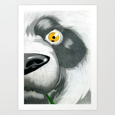 Wild Panda Art Print by Lupo Solitario - $18.00