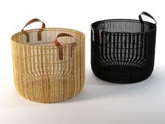 Pandora Basket model by Design Connected Bamboo Art, Bamboo Crafts, Bamboo Basket, Wicker Baskets, Woven Baskets, Baskets On Wall, Storage Baskets, Yarn Storage, Rattan