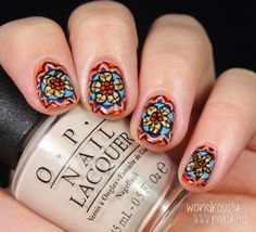 No word for this stained glass nail art but WOW