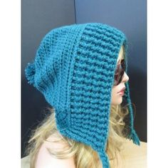 a hat that wears and looks like a hood. These hood/hats are all the rage right now and loved by girls of all ages. It will stand up to all the elements while keeping you snug and warm. Snug, Knitted Hats, Winter Hats, Hoodies, Knitting, Crochet, How To Wear, Fashion, Moda