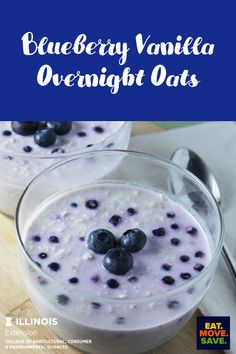 Great for mornings when you are in a rush.  Mix the ingredients together and in the morning you have a nice whole grain breakfast! #oatmeal #overnightoats #blueberries