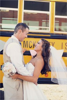 school bus wedding... my mother would not be impressed but the budget sure would be :)